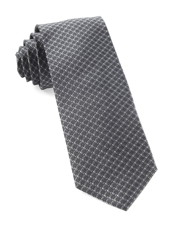 Flower Network Grey Tie