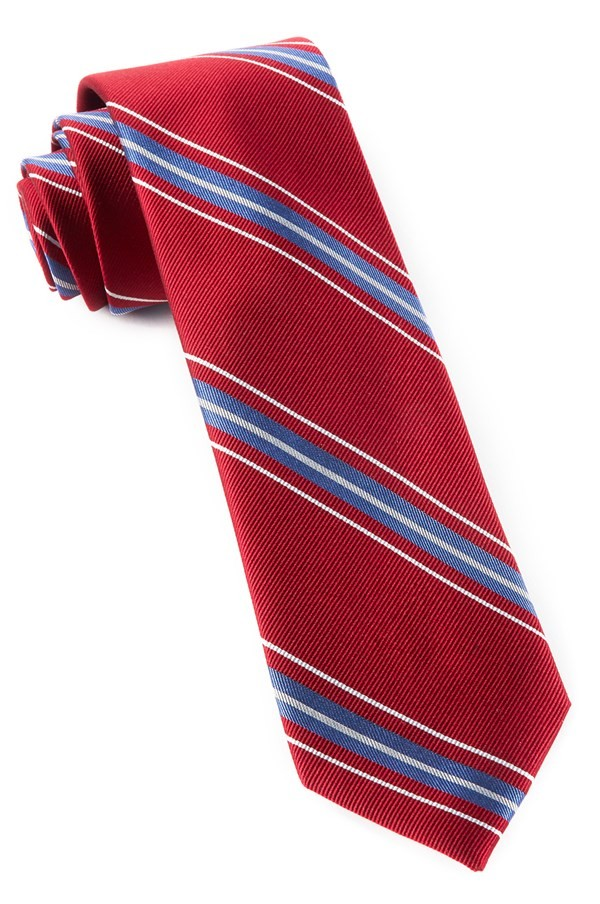 Rival Stripe Red Tie