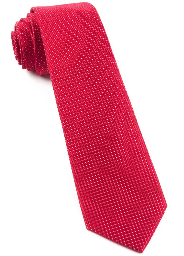 Pinpoint Red Tie