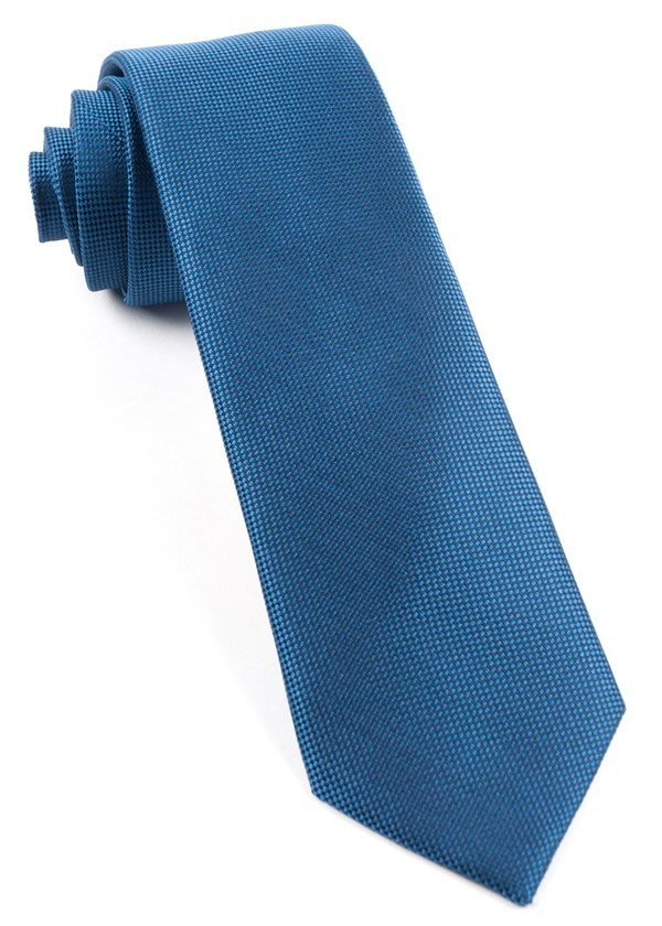 Solid Texture Classic Blue Tie