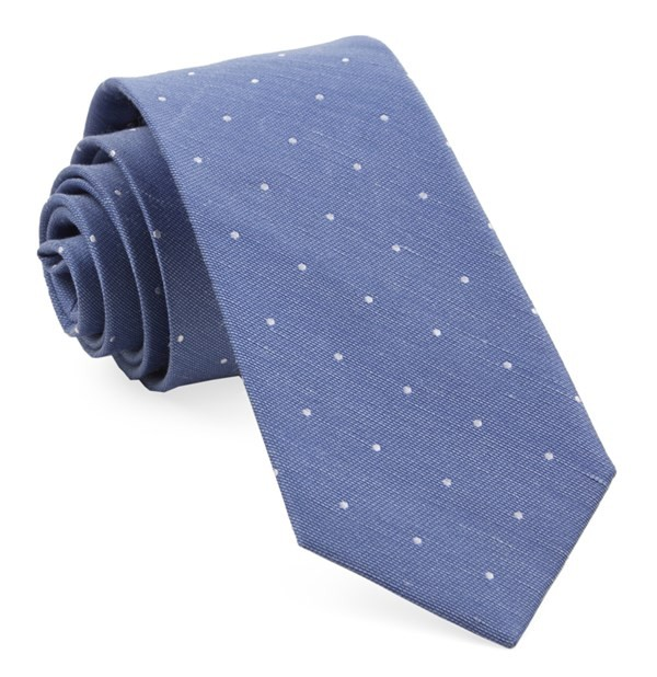 Bulletin Dot Light Cornflower Tie