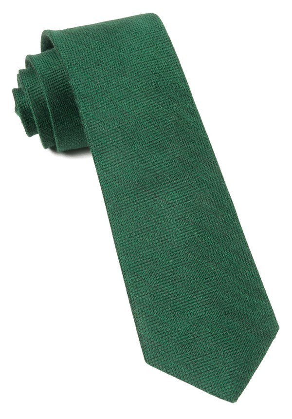 Jet Set Solid Emerald Green Tie