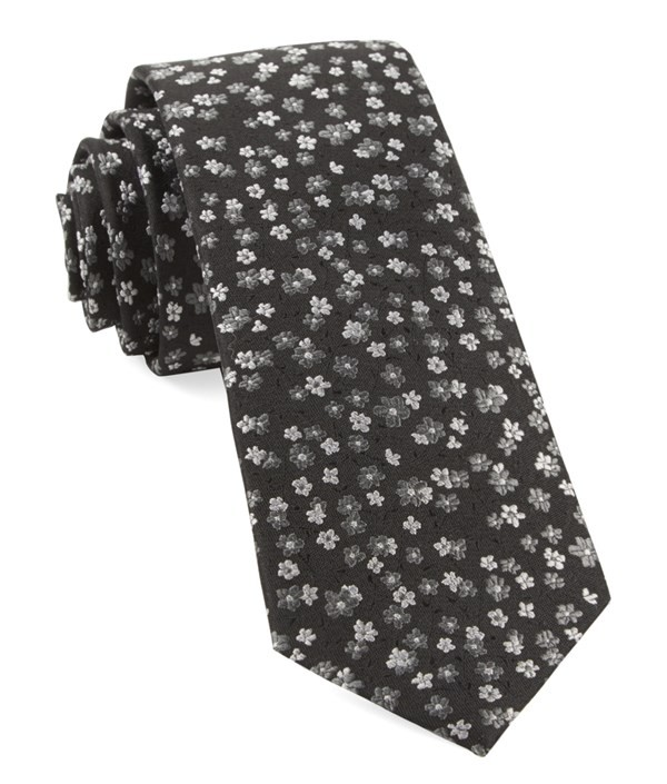 Free Fall Floral Black Tie