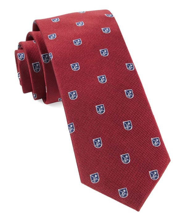 First String Crest Red Tie