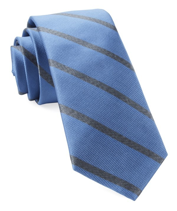 Wheelhouse Stripe Light Blue Tie