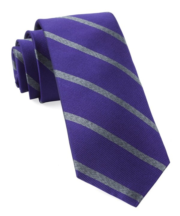 Wheelhouse Stripe Plum Tie