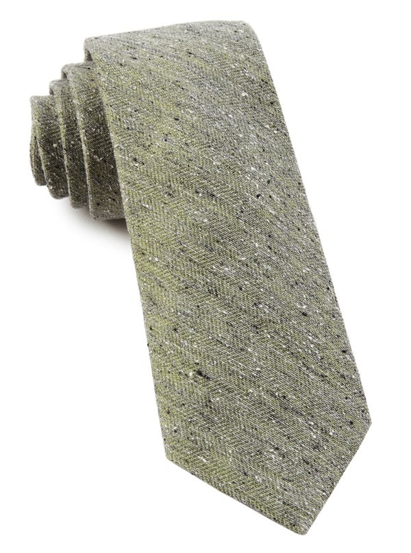 Buff Solid Moss Green Tie