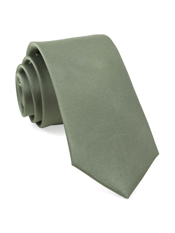 Grosgrain Solid Sage Green Tie