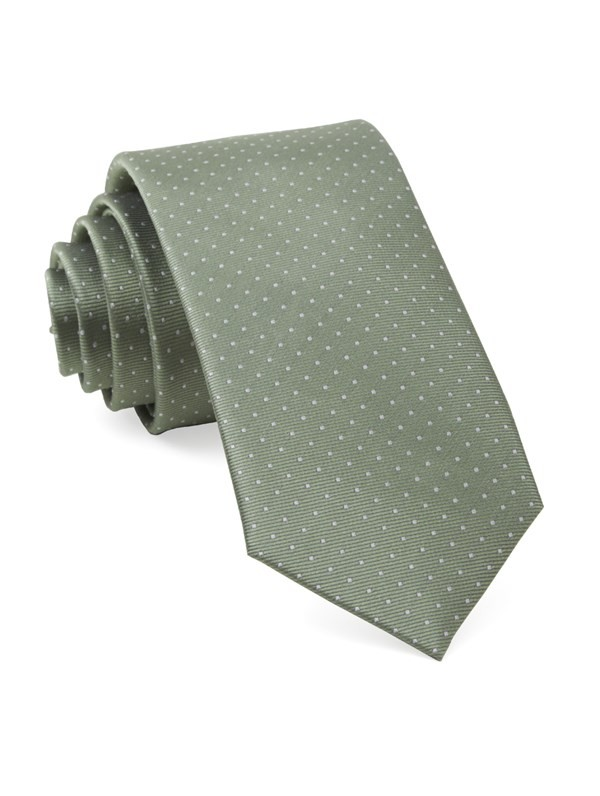 Mini Dots Sage Green Tie