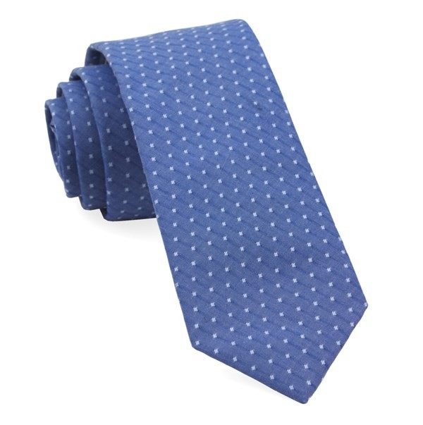 District Dots Navy Tie