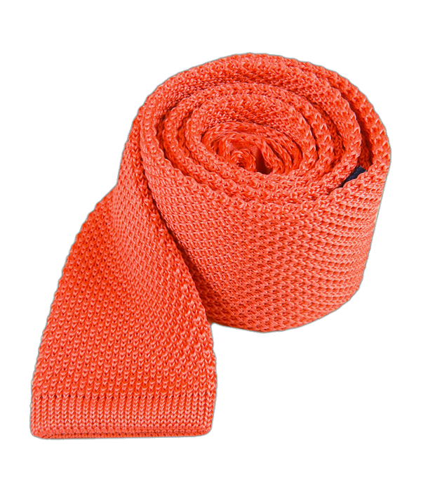 Knitted Coral Tie