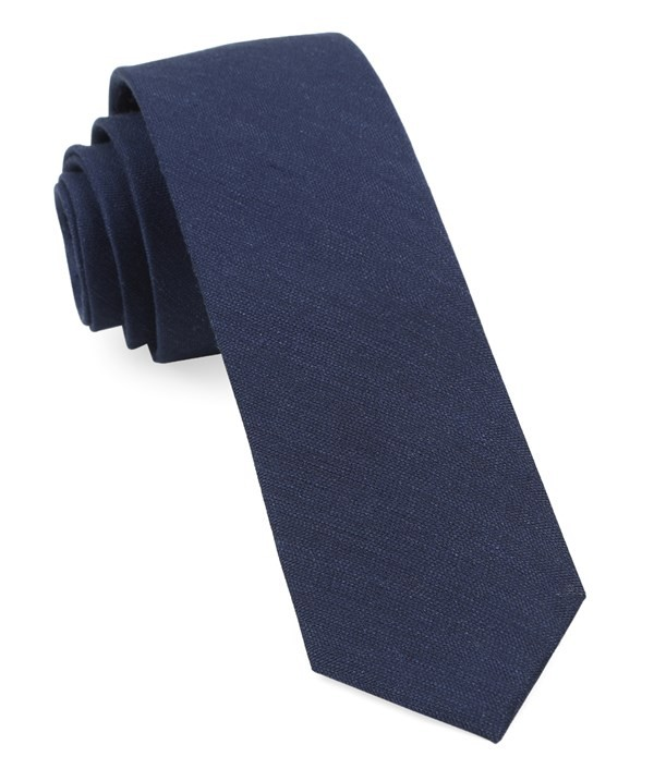 Bhldn Linen Row Navy Tie