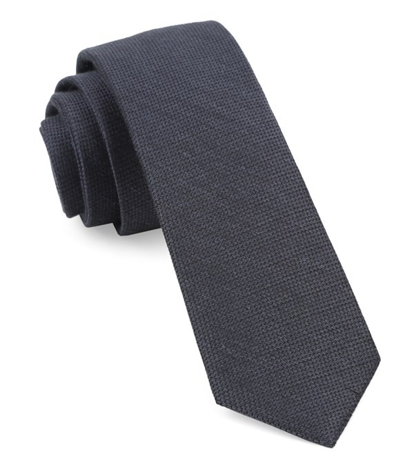 Bhldn Festival Textured Solid Pewter Tie