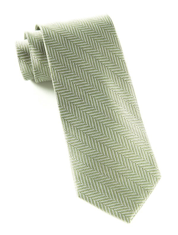Native Herringbone Moss Tie