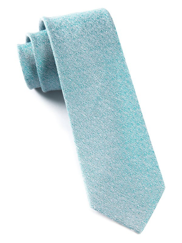 Linen Stitched Robins Egg Tie