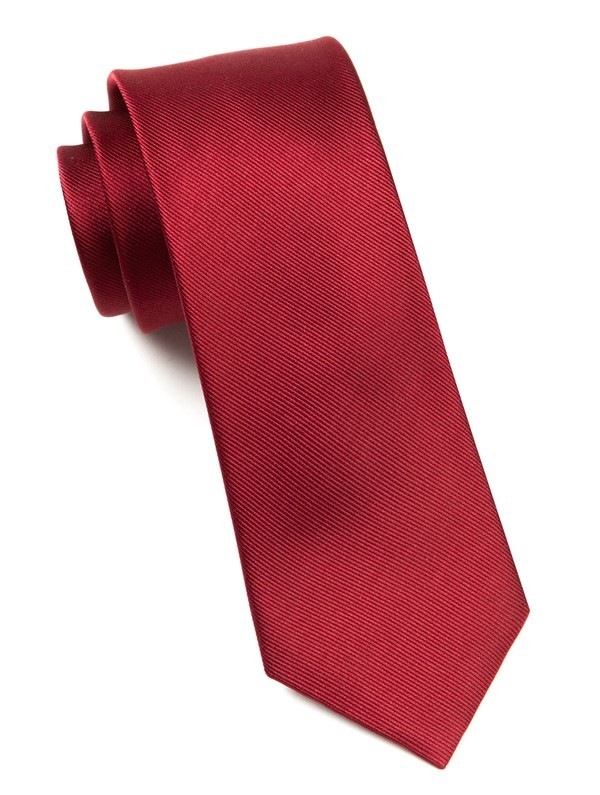 Grosgrain Solid Cranberry Tie