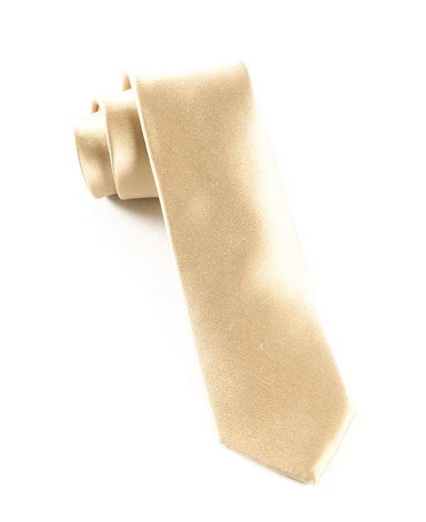 Solid Satin Light Champagne Tie