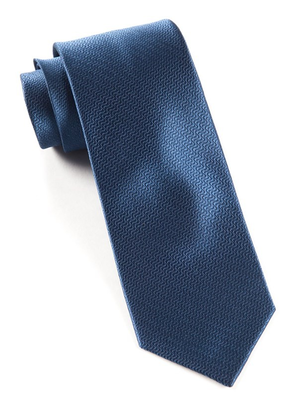 Static Solid Navy Tie