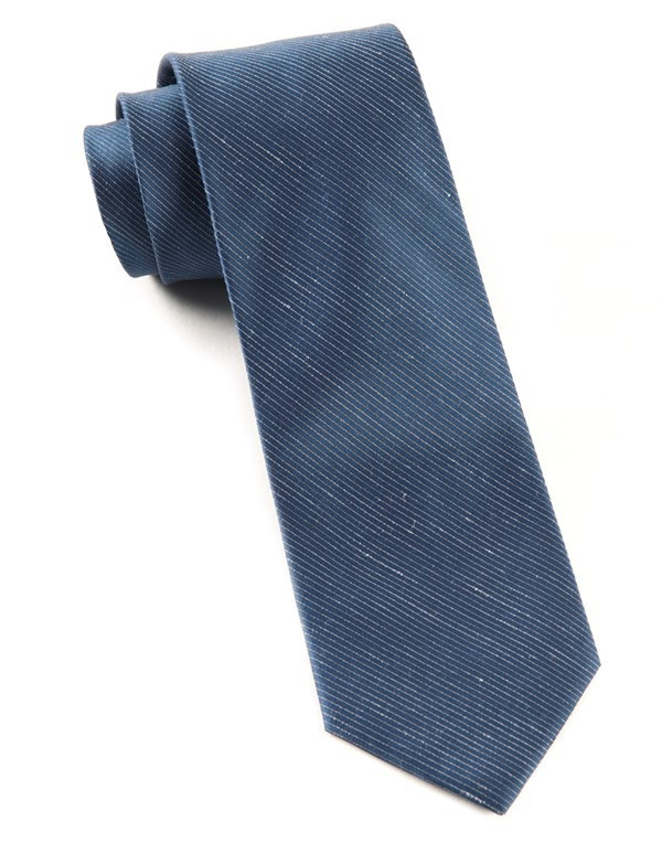 Fountain Solid Navy Tie