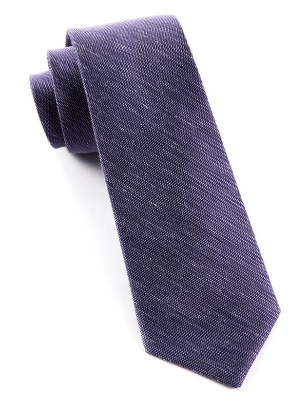 Sand Wash Solid Deep Purple Tie