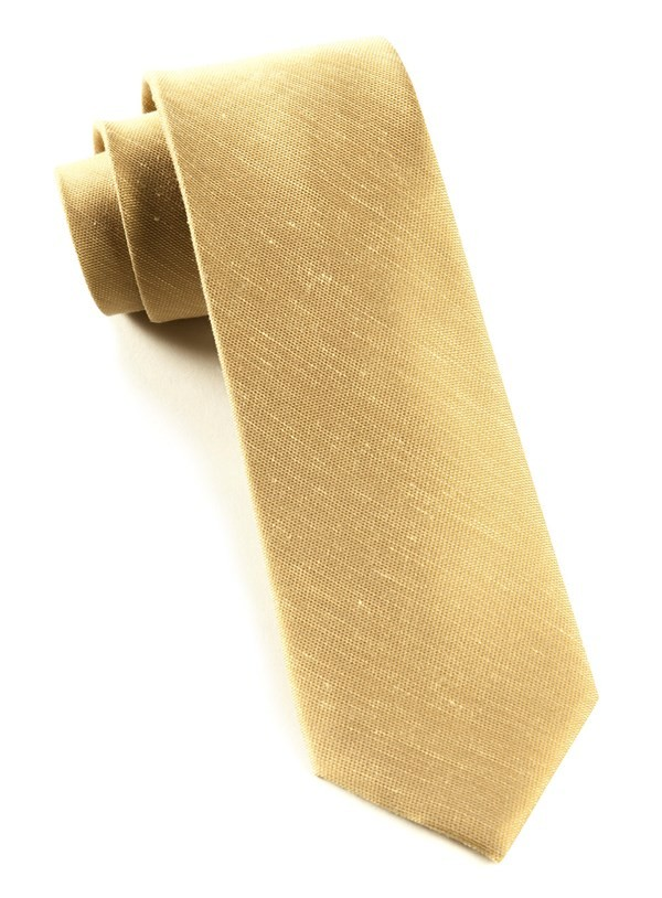 Sand Wash Solid Sun Gold Tie