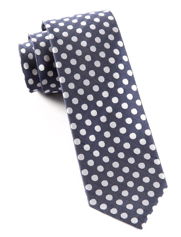 Cherry Beach Dots Navy Tie