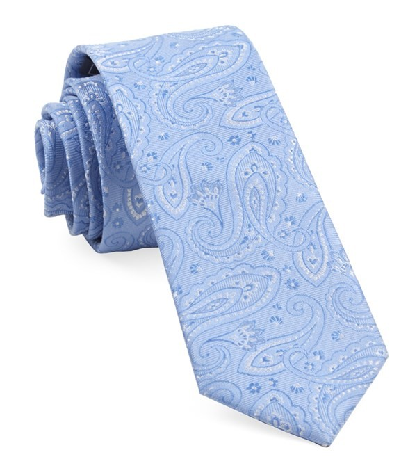 Platform Paisley Light Blue Tie