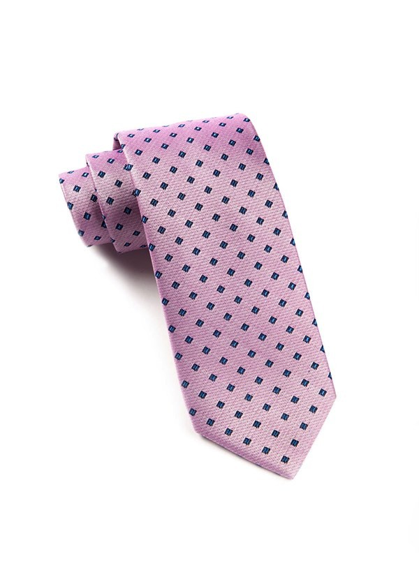 Essex Check Baby Pink Tie