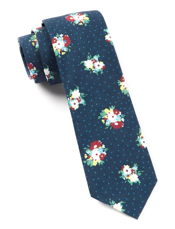 Outland Floral Navy Tie