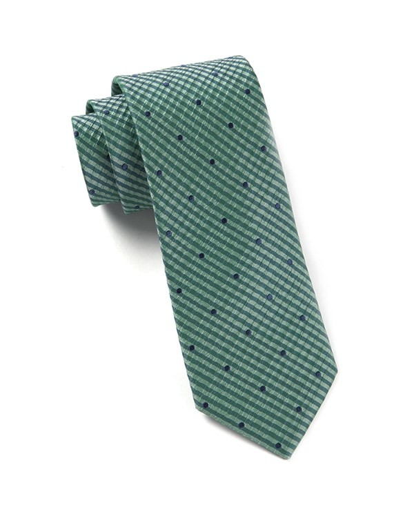 French Kiss Green Teal Tie