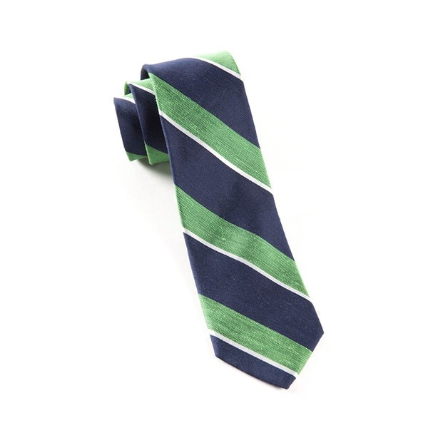 Patina Stripe Kelly Green Tie