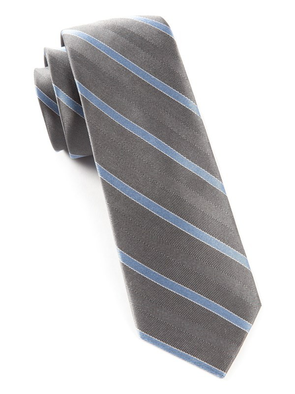Pipe Dream Stripe Silver Tie