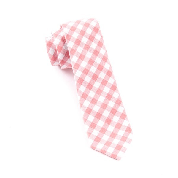 Fall Colorful Plaid Strawberry Tie