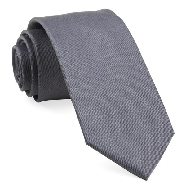 Charlotte Solid Steel Grey Tie