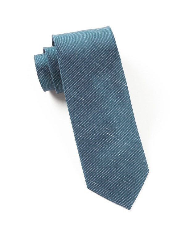 Fountain Solid Deep Serene Blue Tie