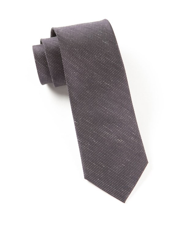 Fountain Solid Deep Eggplant Tie