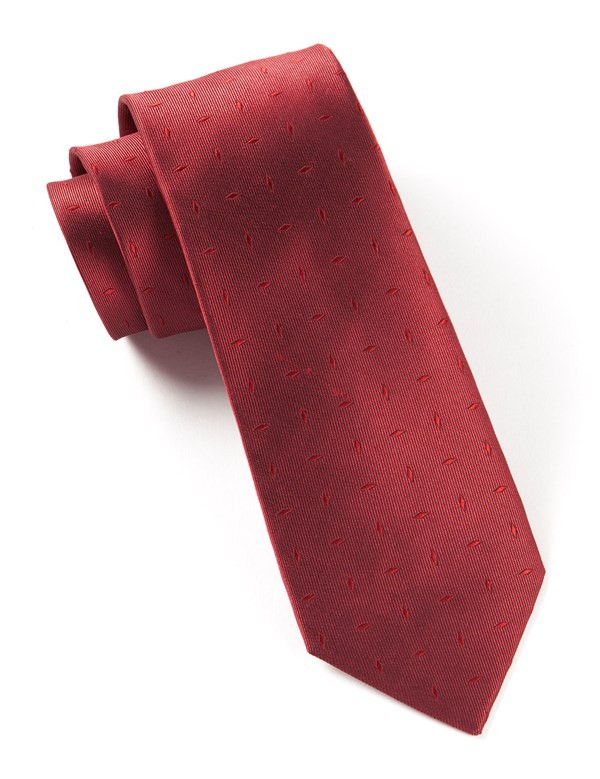 Industry Solid Red Tie