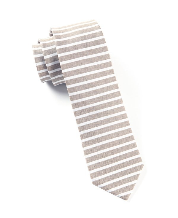 Unity Stripe Brown Tie