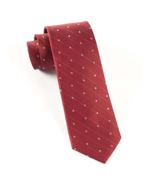 Ringside Dots Burgundy Tie