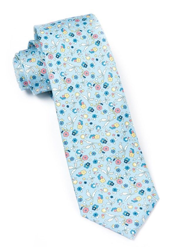 Fentone Floral Light Blue Tie