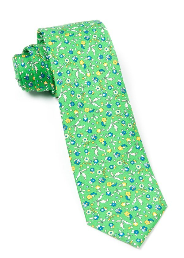 Fentone Floral Kelly Green Tie