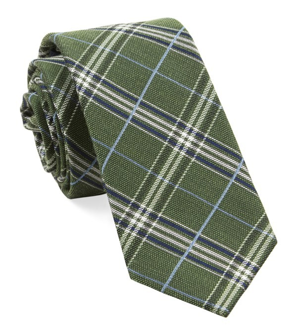 Marshall Plaid Clover Green Tie