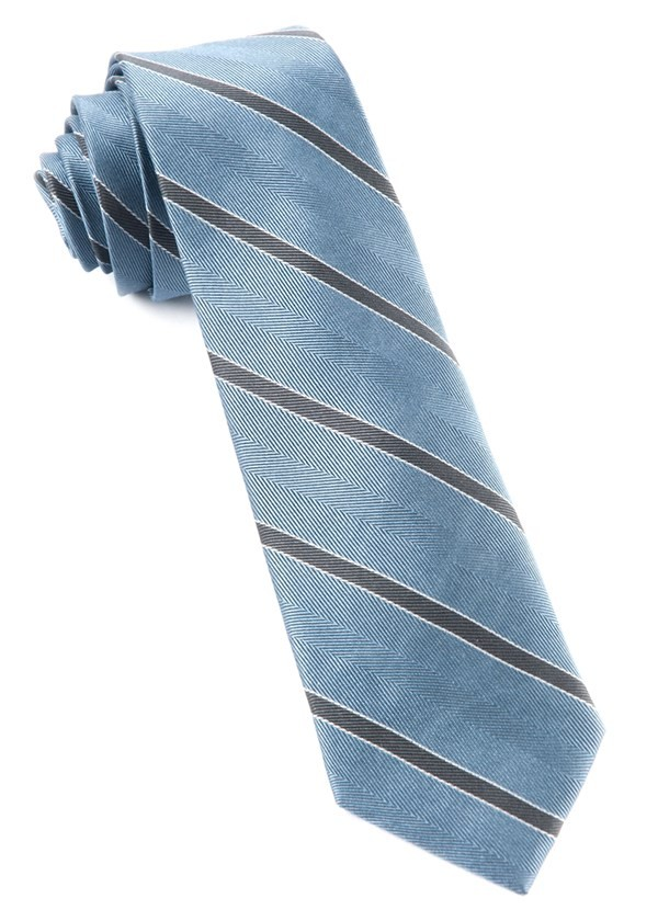 Kennedy Stripe Slate Blue Tie