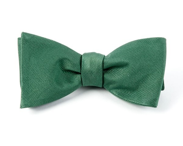 Grosgrain Solid Hookers Green Bow Tie