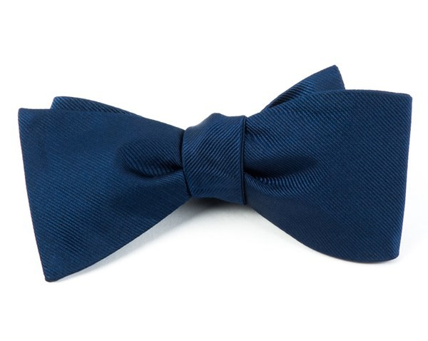 Grosgrain Solid Navy Bow Tie