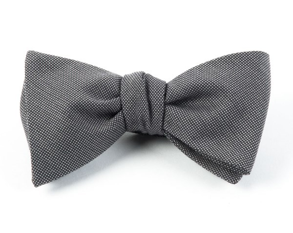 Downtown Solid Grey Bow Tie
