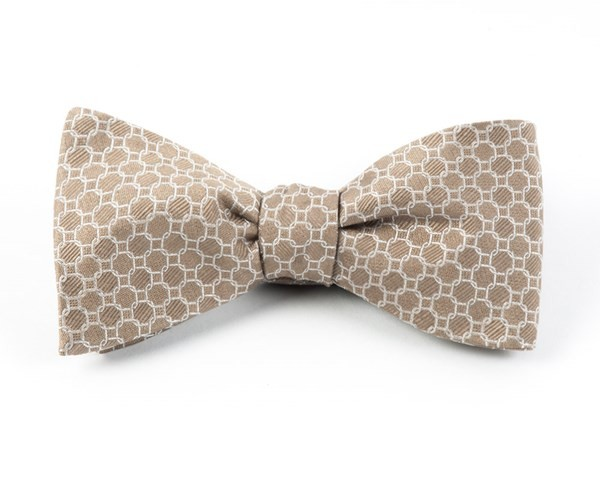 Chain Reaction Champagne Bow Tie