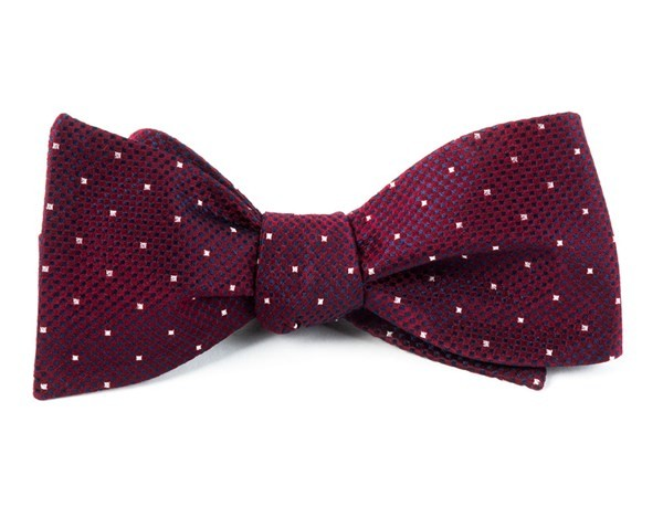 Showtime Geo Burgundy Bow Tie