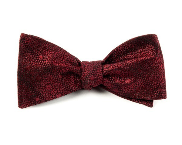 Interlaced Burgundy Bow Tie