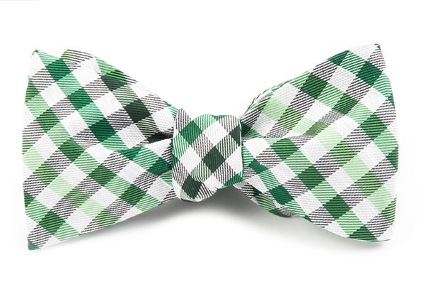Gibson Check Green Bow Tie